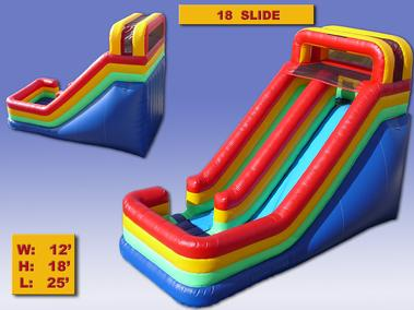 Super Slide as low as 239.00 a day.  18 feet high and a ton of fun.